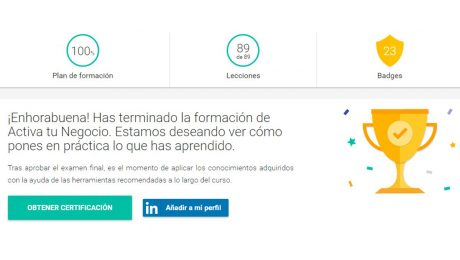 Certificación Google Activa tu Negocio. Fundamentos del Marketing digital