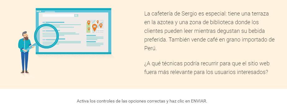 marketing online ejercicio practico google