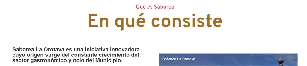 Sabora La Orotava sección 1