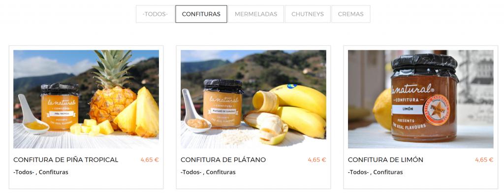 Tienda online Confituras La Natural