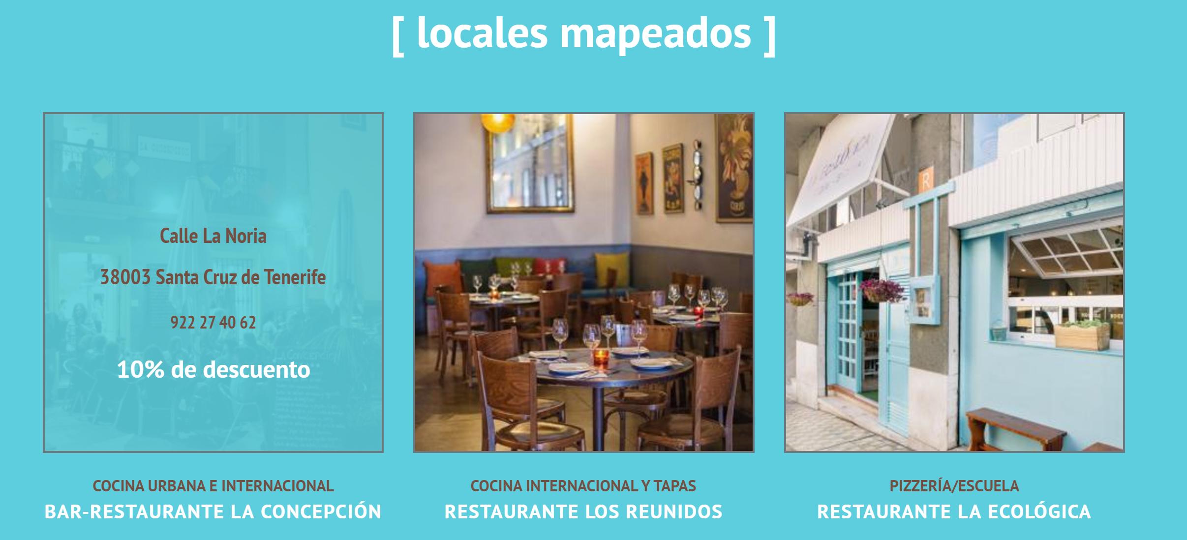 locales mapeados