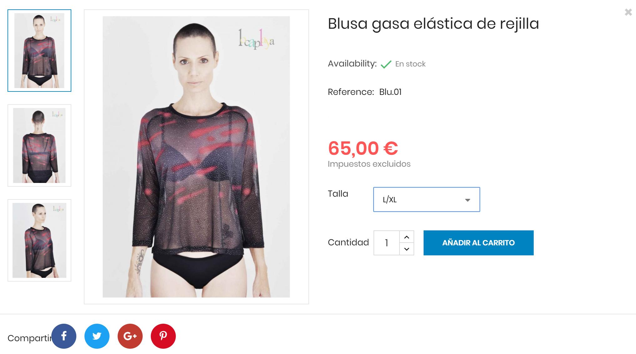Ejemplo Producto Blusa Tienda Online