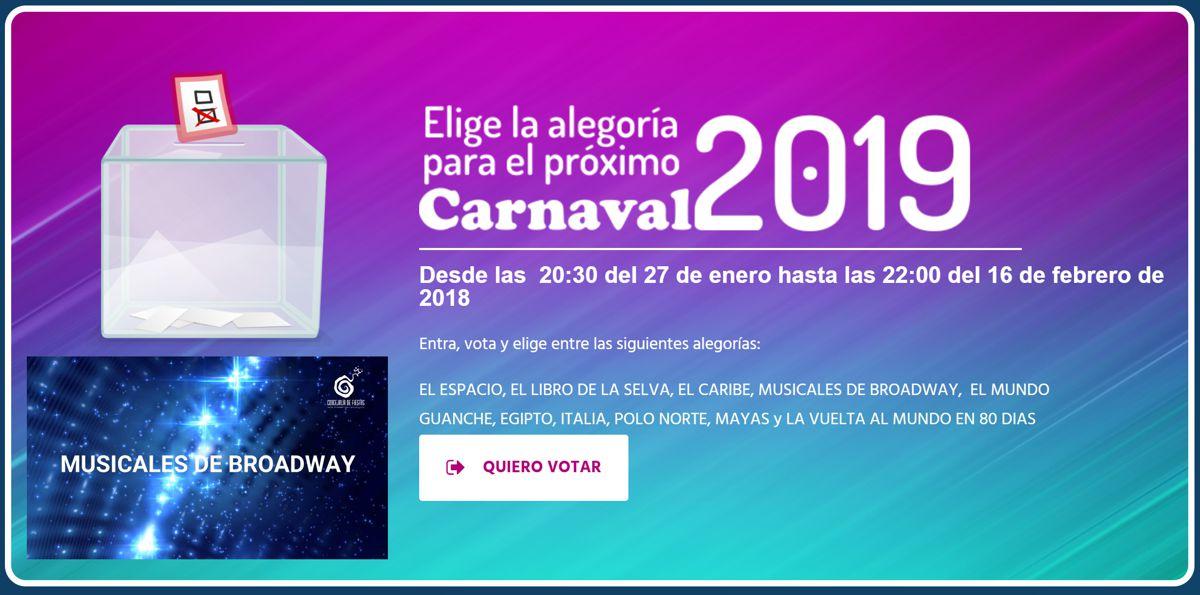elige la alegoria para el proximo carnaval 2019