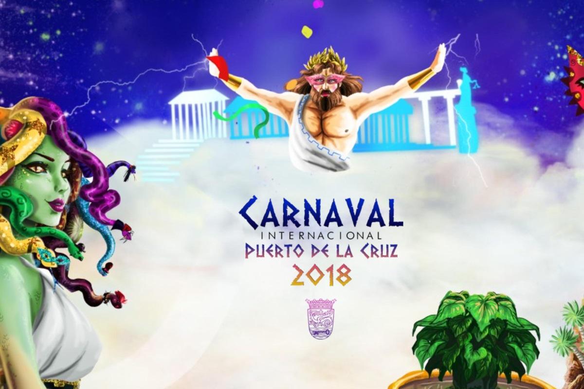 cartel carnaval puerto de la cruz 2018 diseño web evento