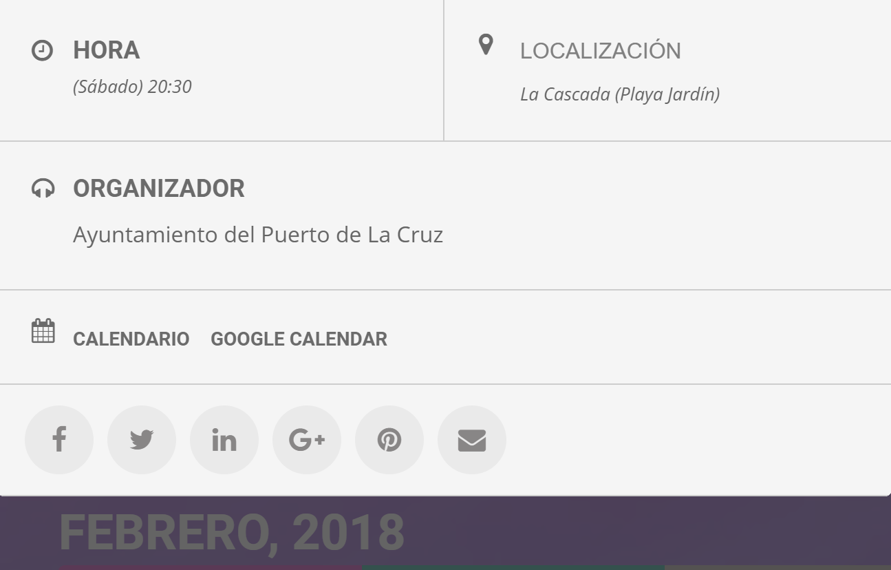 detalle evento agenda ubicacion hora redes sociales
