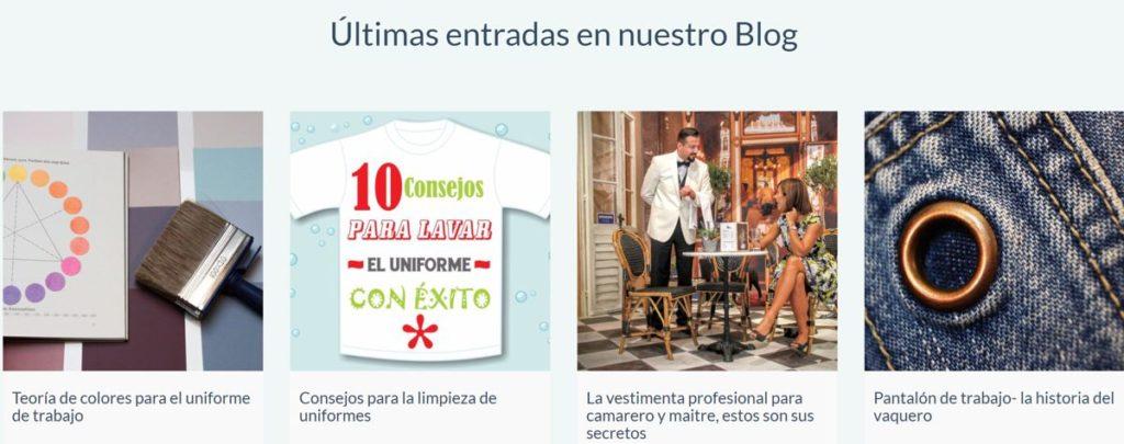 blog de vestuario profesional marketing de contenidos