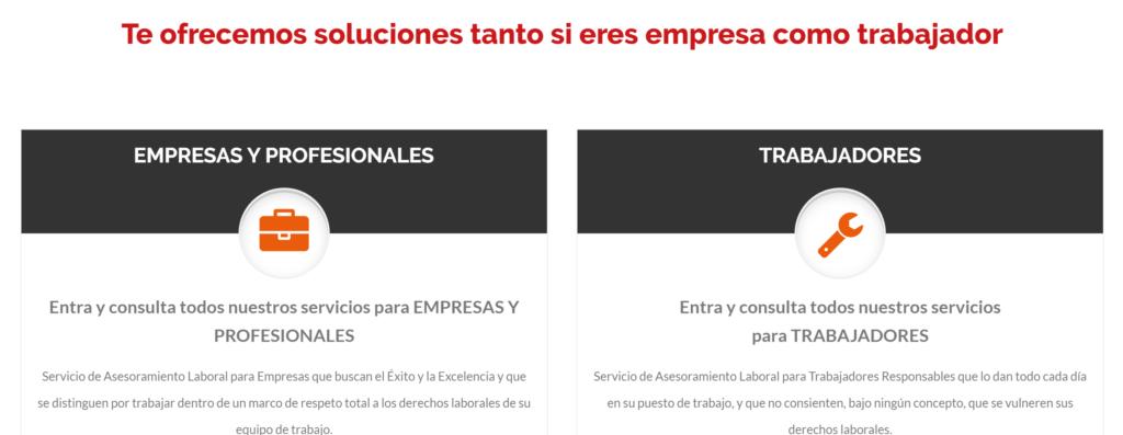 servicios para empresa y trabajador aurea laboral acceso a landing pages de servicios y productos