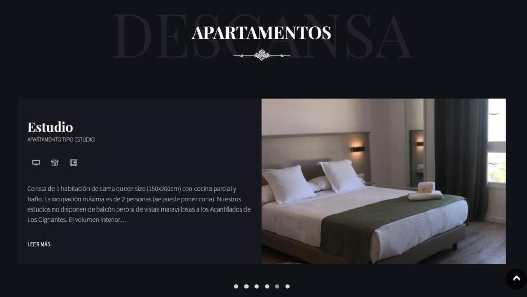 ejemplo portfolio habitaciones hotel