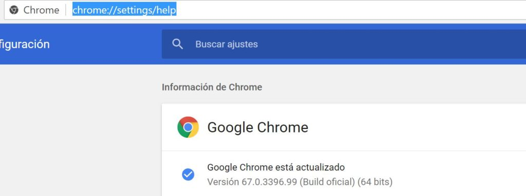 version google chrome como consultarla