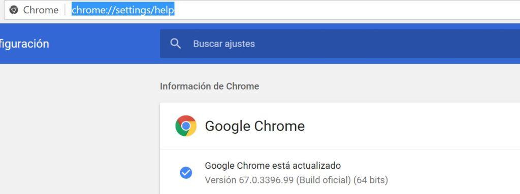 version google chrome como consultarla