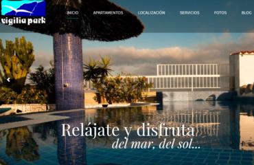 web design apartamentos vigilia park