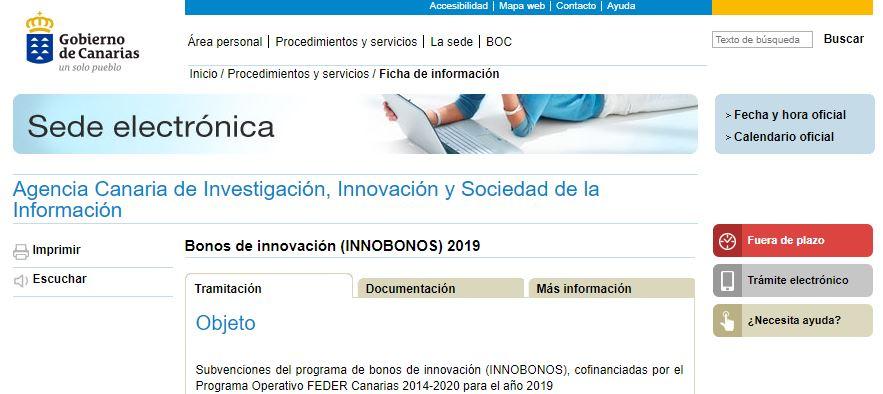 aplicativo web innobonos 2019