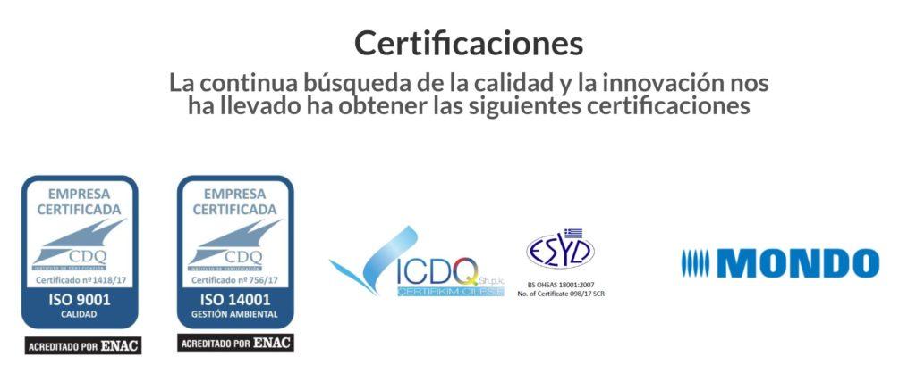 certificaciones de serdican