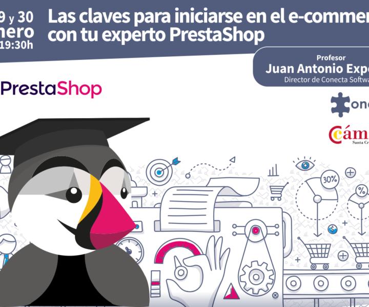 Formación para iniciarse en el ecommerce con PrestaShop en Tenerife Canarias Camára de Comercio Enero 2019