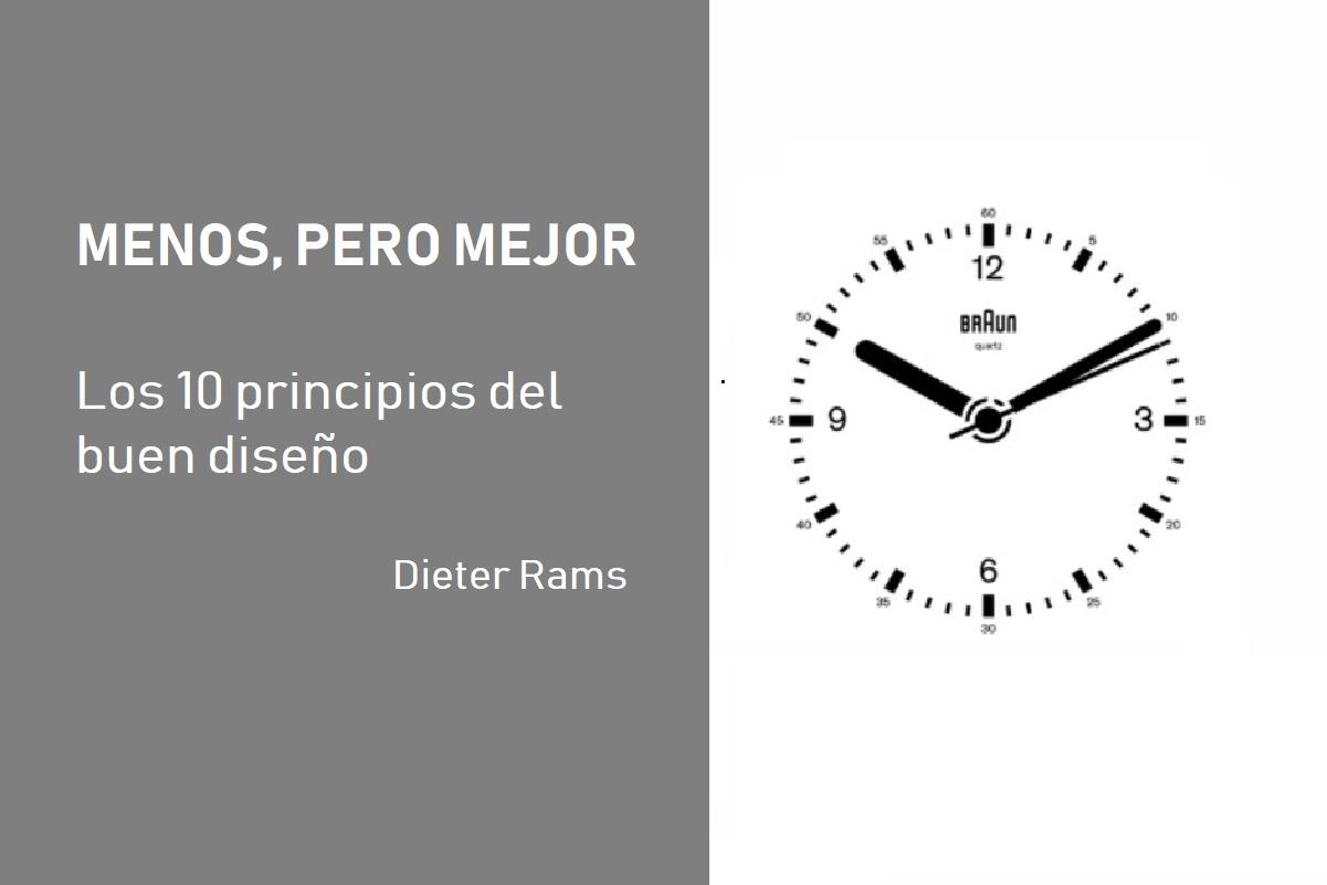 10 principios del buen diseño dieter rams