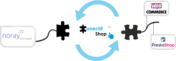 conector noray software PrestaShop WooComerce