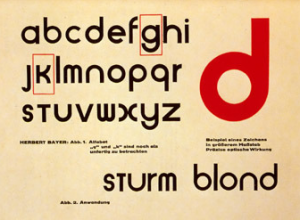 Tipografía Bauhaus