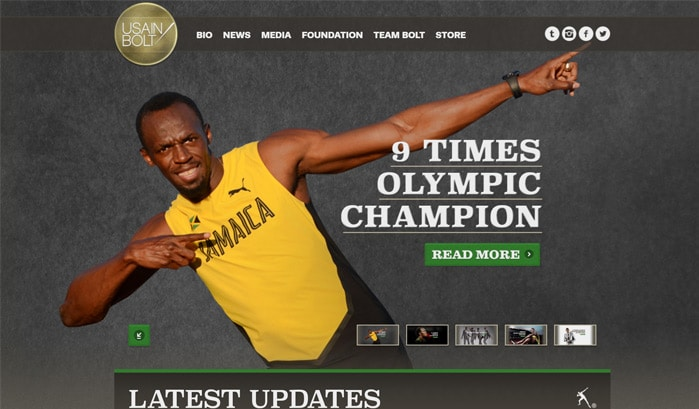 Usain Bolt WodPress