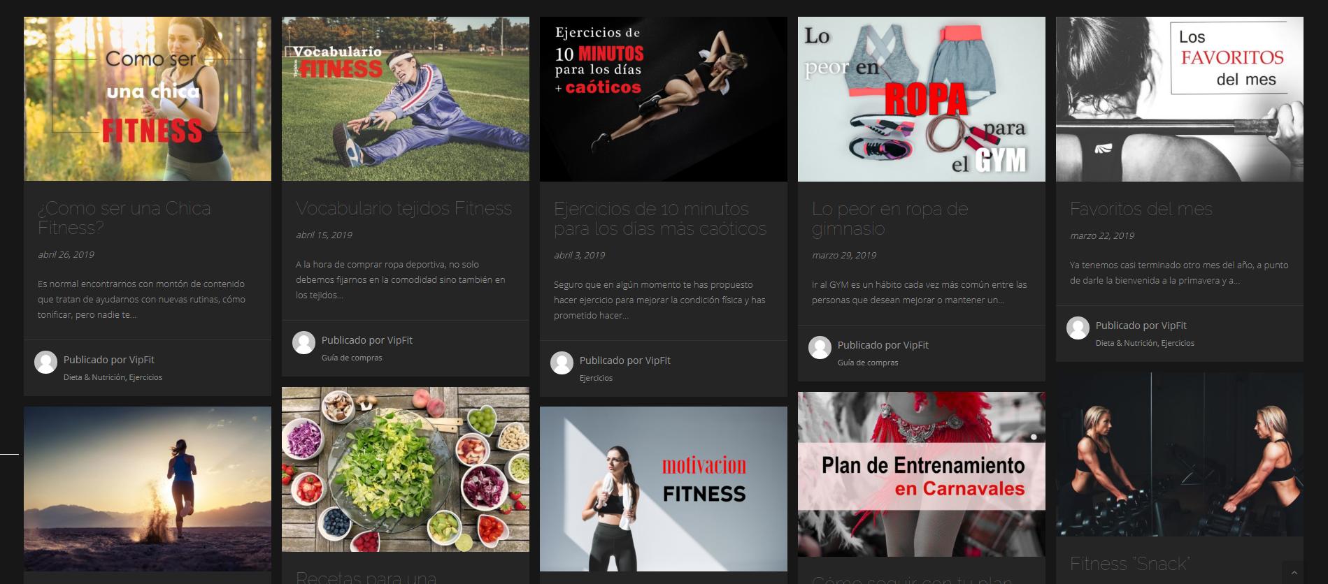 Blog Vip fit
