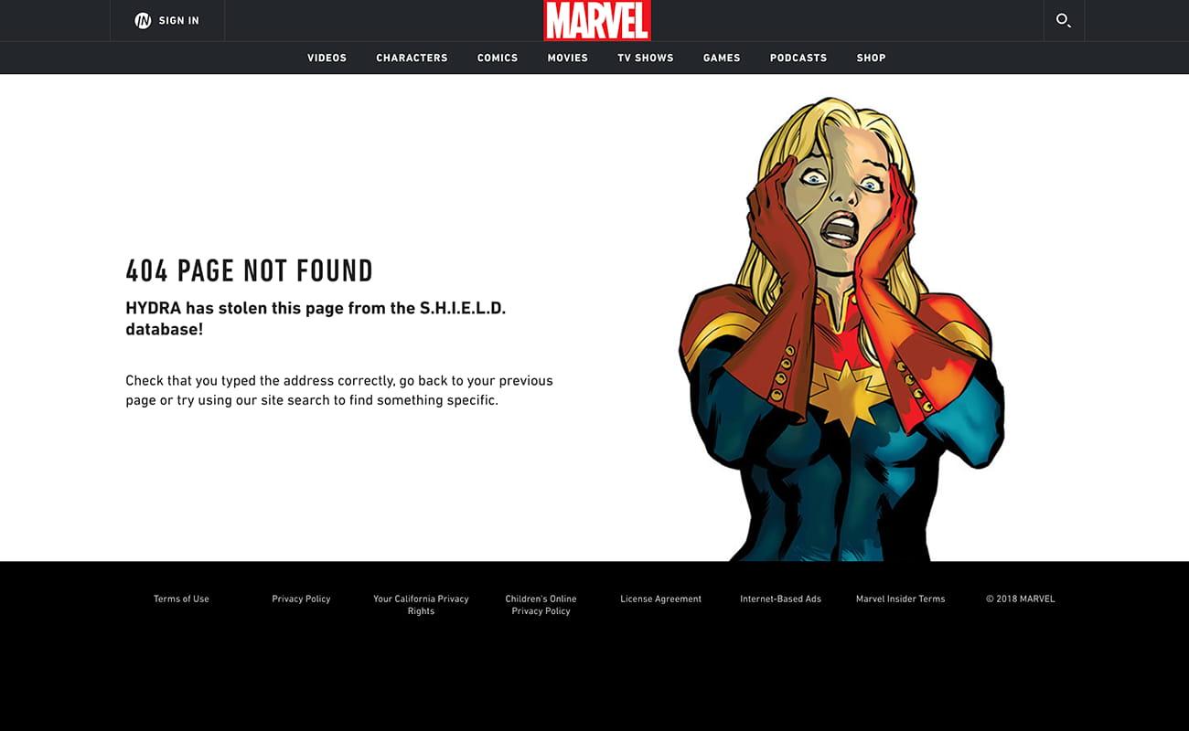 404 Marvel