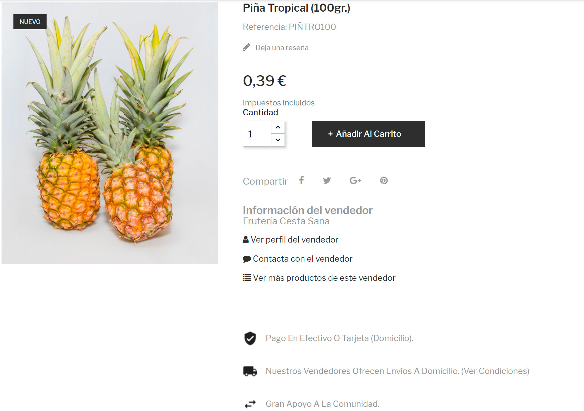detalle producto marketplace pina tropical